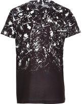 River Island Boys black paint fade short sleeve T-shirt