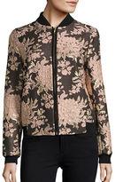 Helene Berman Jacquard Floral Jacket