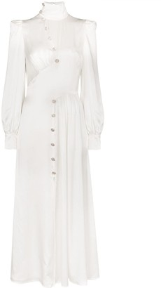Alessandra Rich Crystal-Embellished Silk Maxi Dress