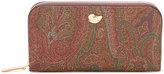 Etro paisley print zipped wallet - women - Cotton/Polyester/Polyurethane/PVC - One Size