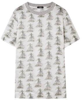Bassike Printed Cotton-gauze T-shirt