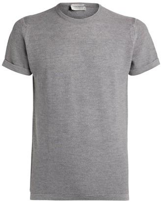 John Smedley Textured Merino Wool T-Shirt