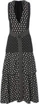 Proenza Schouler Printed V-Neck Midi Dress