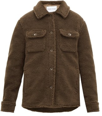 Stand Studio Jeremy Teddy-fleece Overshirt - Khaki