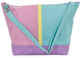 Iscream Colorblock Faux Leather Weekender