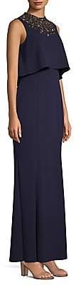 Aidan Mattox Women's Pop Over Beaded Gown