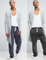 Asos Slim Jogger With Narrow Waistband & Cuffs 2 Pack Save