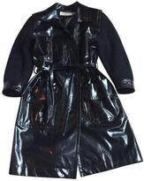 Saint Laurent Black Synthetic Trench coat