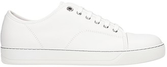 Lanvin Dbb1 Sneakers In White Leather