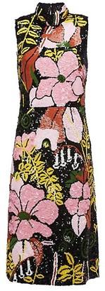 La DoubleJ Gala Sequin Floral Sheath Dress