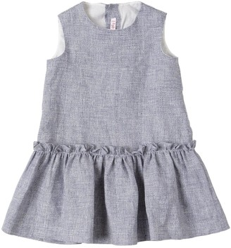 Il Gufo LINEN DRESS WITH BACK BOW