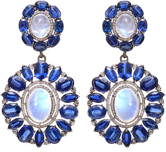 Arthur Marder Fine Jewelry Silver 2.25 Ct. Tw. Diamond & Gemstone Earrings