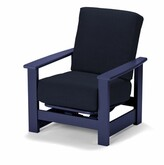 Telescope Casual Leeward Deep Patio Chair with Cushions Telescope Casual Frame Color: Graphite, Cushion Color: Indigo
