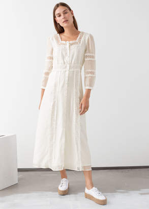 And other stories Lace Midi Dress