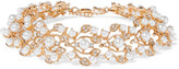Kenneth Jay Lane Gold-tone, crystal and faux pearl choker
