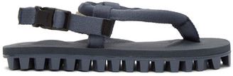 Suicoke Navy Gut Ribbed Sole Flip Flops
