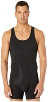 Spanx For Men for Men Cotton Compression Tank (Black) Men's Underwear