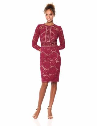 Tadashi Shoji Women's l/s lace and Sequin Dress