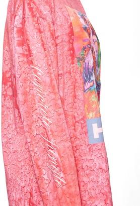 Heron Preston Multicolored Heron Long Sleeve T-shirt Fuchsia