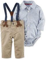 Carter's 3-Pc. Striped Bodysuit, Suspenders & Pants Set, Baby Boys (0-24 months)