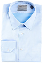 John W. Nordstrom Solid Traditional Fit Long Sleeve Dress Shirt