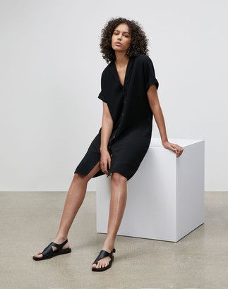 Lafayette 148 New York Sawyer Shirtdress In Finesse Crepe