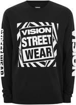 Topman Vision Street Wear Black 'gator' Long Sleeve Essential T-shirt