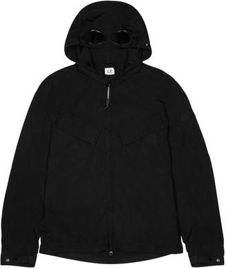C.P. Company Black goggle-hood nylon shell jacket