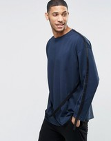 Asos Oversized Long Sleeve T-Shirt With Strap Detail
