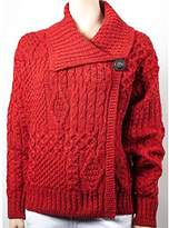 Carraigdonn Carraig Donn Ladies Single Button Irish Cardigan