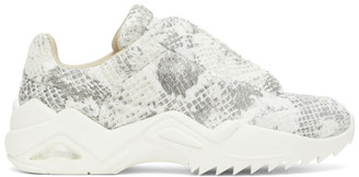 Maison Margiela Grey and White Snake New Future Sneakers