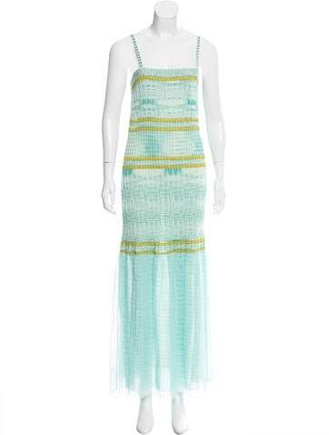 Missoni Mesh Trim Maxi Dress