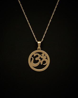 Italian Gold 14K Round Sanskrit Om Necklace
