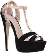 Carvela Krystal Platform Stiletto Heeled Sandals, Black