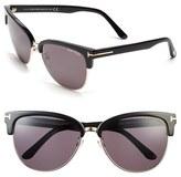 Tom Ford Women's 'Fany' 59Mm Retro Sunglasses - Black/ Rose Gold/ Grey Lenses