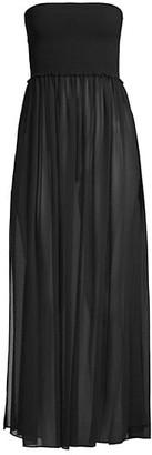 Ramy Brook Calista Smocked Strapless Flare Dress