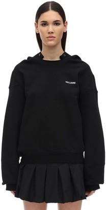 we11done Printed Logo Cotton Sweatshirt Hoodie