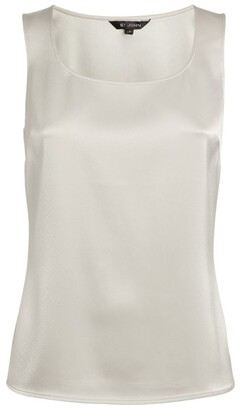 St. John Sleevelessmetallic Top