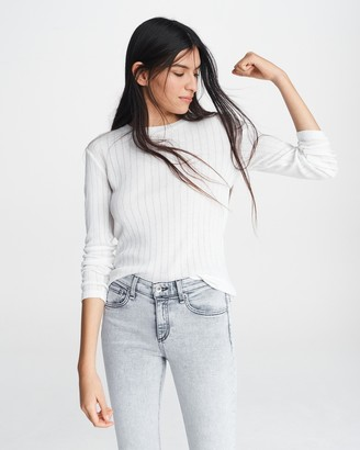 Rag & Bone Sheer pinstripe top