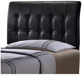 Hillsdale Lusso Headboard With Rails, Full, Black Faux Leather