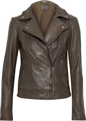 Muu Baa Muubaa Sabik Zip-detailed Leather Biker Jacket