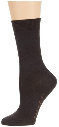 Falke Soft Merino Sock (Brown) Women's Crew Cut Socks Shoes