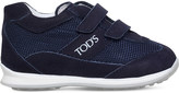 Tod's TODS Velcro primi passi mesh and leather trainers 1-5 years