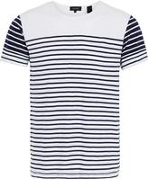 Oxford Xander Stripe T-Shirt Wht/Blu X