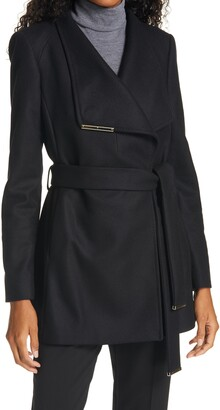 Ted Baker Rosess Wool & Cashmere Blend Wrap Coat
