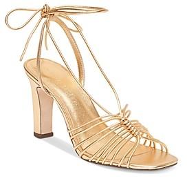 Loeffler Randall Women's Hallie Strappy Ankle Tie High Heel Sandals