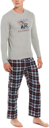 Lucky Brand 2Pc Thermal Crew & Lounge Pant Set