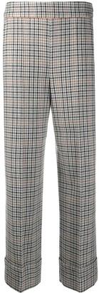 Incotex Check High-Rise Trousers