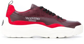 Valentino Panelled Leather Sneakers