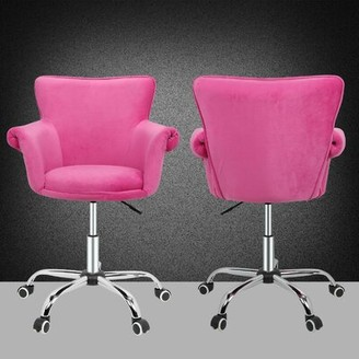 Ebern Designs Dhital Task Chair Upholstery Color: Microfiber Pink